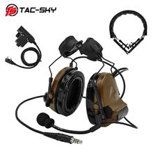 TAC-SKY COMTAC II Helmet Bracket Edition Tactical headset and Tactical PTT u94ptt and Military headset Peltor Comtac Headband CB