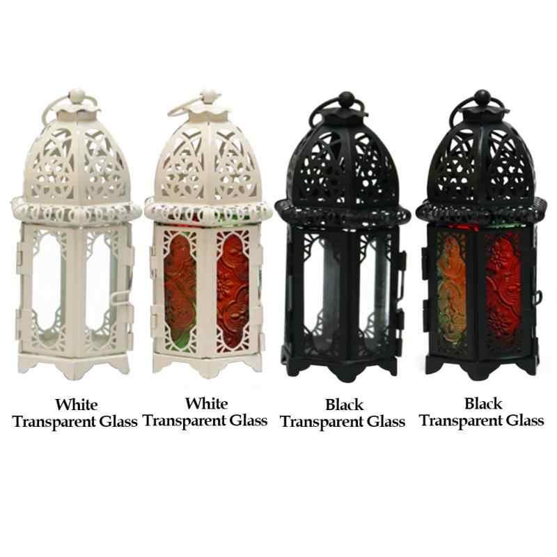 모로코 스타일 레트로 촛불 랜턴 촛대 교수형 램프 안뜰 침실 휴일 웨딩 장식 촛불 lampstand 라이트