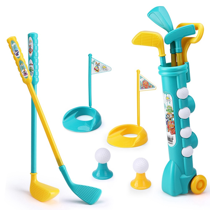 1 Set Mini Plastic Golf Toy Child Golf Sports Game Professional Kids Children Home Outdoor Indoor Small Golf Club Party Training