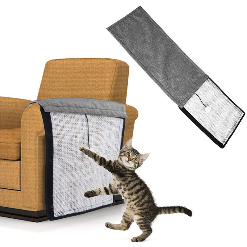 Pet Furniture for Cats Scratch Board Natural Sisal Protecting Furniture Chair Protector Pad Cotton Cat Toy Sofa Scratching Post