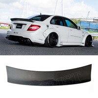 W204 LB Style C180 C200 C260 C300 Carbon Fiber Car Rear Trunk lip spoiler wing For Mercedes Benz W204 C63 4 Door 2008 2013