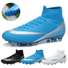 Sneakers Cleats Soccer-Shoes Football-Boots Long-Spikes Training Outdoor Sport Ultralight