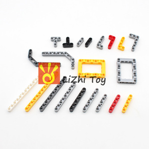 Image 5 - Technic Parts 250g Liftarm Beam Gear Cross Axle Frame Connector Pin MOC Technic Pieces Building Blocks Robot Toys