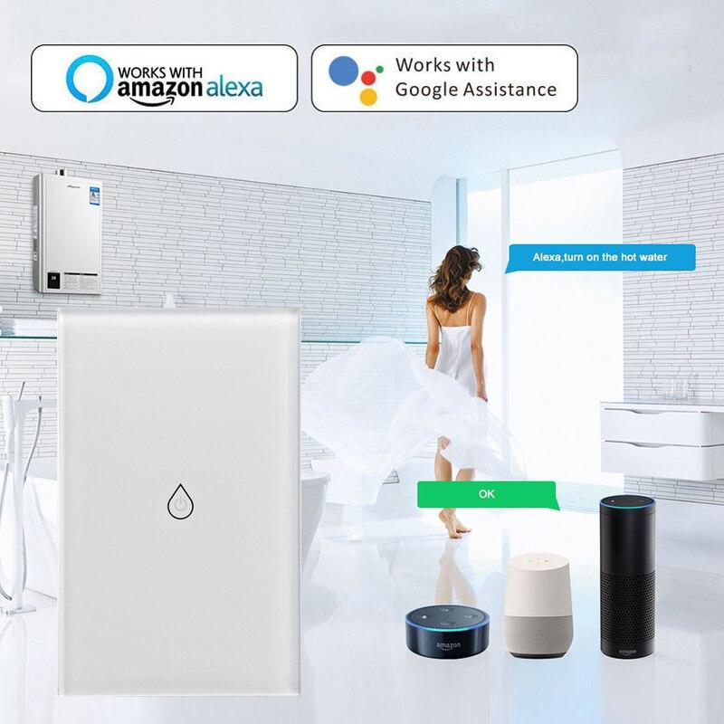 Hbbe2934f2ed6405a995ba35ca8b30b10W - EU WiFi Boiler Water Heater Switch 4400W Tuya Smart Life App Remote Control ON OFF Timer Voice Control Google Home Alexa Echo