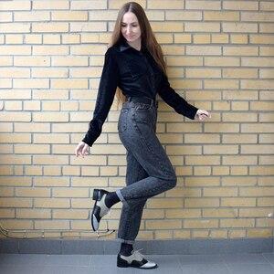 Image 4 - Femmes appartements En Cuir Oxford Chaussures Pour Femmes Grand Femme Taille 11 Designer Vintage plat Chaussures Bout Rond À La Main Blanc Creepers
