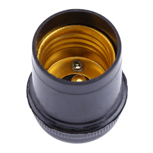 E27 Base bombilla lámpara soporte colgante Vintage tornillo bombilla aluminio Shell Base enchufe adaptador Cable