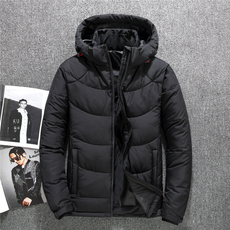 Winter Down Jacket Men Thicken Hooded Casual White Duck Down Coat Men Snow Parka Winter Windbreaker Mens Overcoat Plus Size 4XL