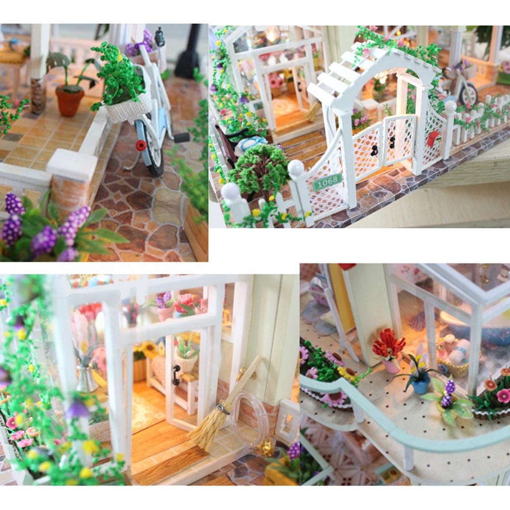 Princess Villa DIY 3D Miniature Dollhouse Kit