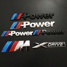 Стандартная 3D стерео Металлическая Автомобильная наклейка для BMW X5 X6 M power E S X drive, Модифицированная Автомобильная наклейка, стильная задняя ...