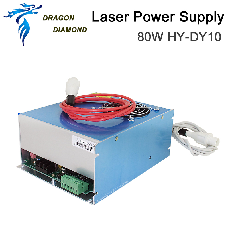 DY10 reci co2 power supply 80w for laser tube w4 100w cutting machine