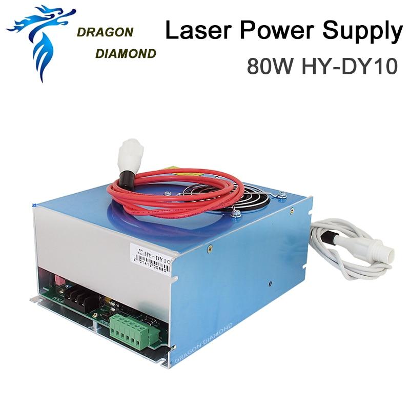 Fuente de alimentación de láser de CO2 serie DY 80W DY-10 para tubo láser de CO2 RECI W2 utilizado para máquina de corte por grabado láser