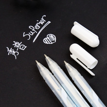 Markers Stationery Highlighter Fluorescent-Pen Hand-Painting White-Ink Sketch Scriptliner