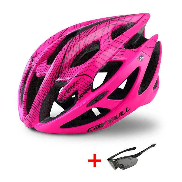 Ultraleve mountain bike estrada capacete da bicicleta com óculos de sol das mulheres dos homens equitação ciclismo capacete de segurança in-mold dh mtb bicicleta capacete 3