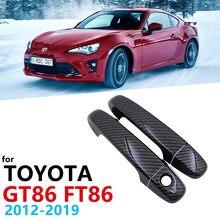 Яркий черный комплект обшивки двери из углеродного волокна для Toyota 86 GT86 FT86 GT FT Scion FR-S Subaru BRZ 2012 ~ 2019, автомобильные аксессуары 2013