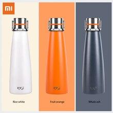 Xiaomi kkf vácuo garrafa térmica 24h isolamento garrafa térmica de aço inoxidável viagem esporte caneca 475 ml oled copo temperatura