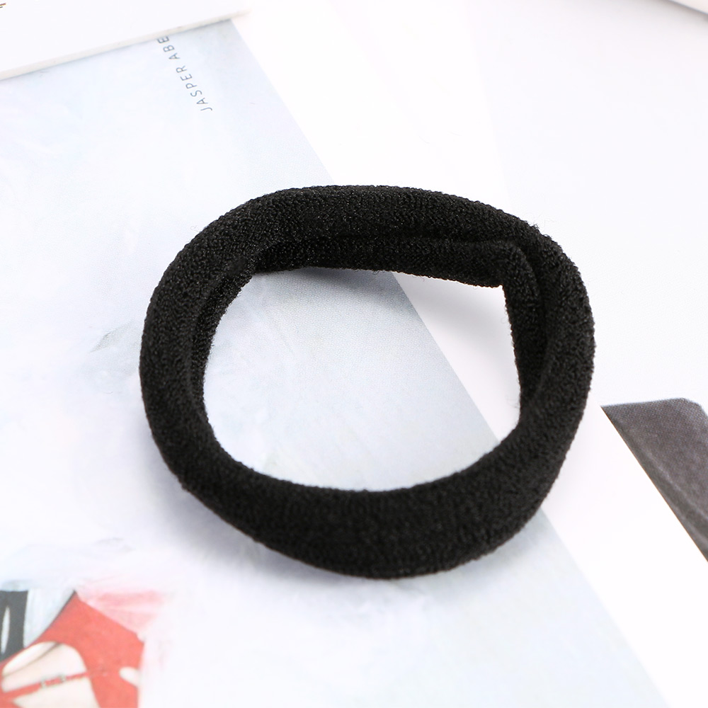 10Pcs/pack Girls Elastic Seamless Black Hair Ties Band Rope Ponytail Bracelets Hairband Headband Hair Accessories