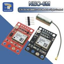 Módulo gps, GY-NEO6MV2 NEO-6M 2 controles de voo eeprom controlador mwc apm2 apm2.5 antena grande para arduino placa
