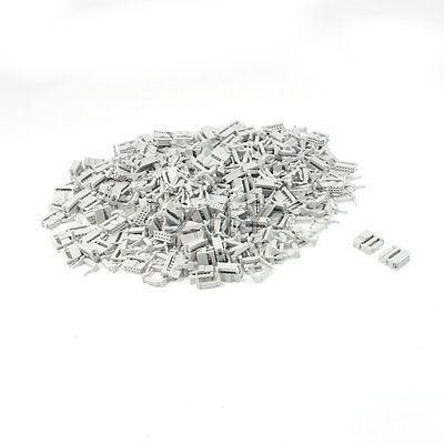 200 Pcs 2 Rows 10 Pin IDC Socket Connector Male Header 2.2mm FC-10P Light Gray