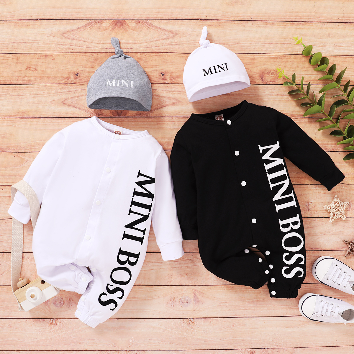Patpat MINI BOSS Jumpsuits Spring Baby Clothes One-Pieces Toddler Girl Autumn New And