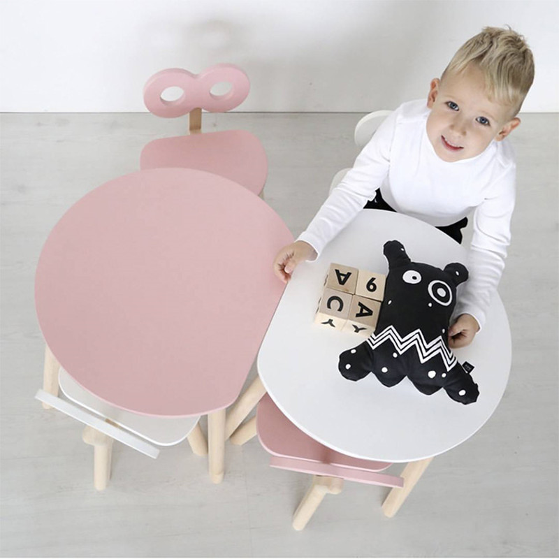 Wooden Baby Table And Chair Combination House Baby Table Desk Kindergarten Early Childhood Education Toy Table Game