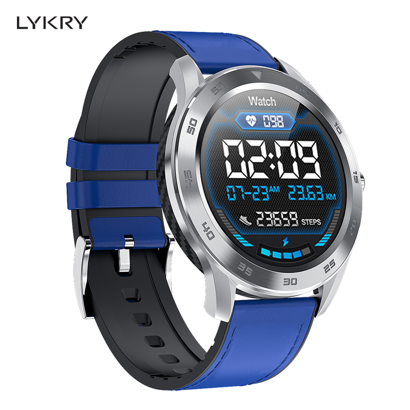 LYKRY Heart-Rate-Monitor Wristband Fitness-Tracker ECG Smart-Watch Bluetooth-Call DT98 title=