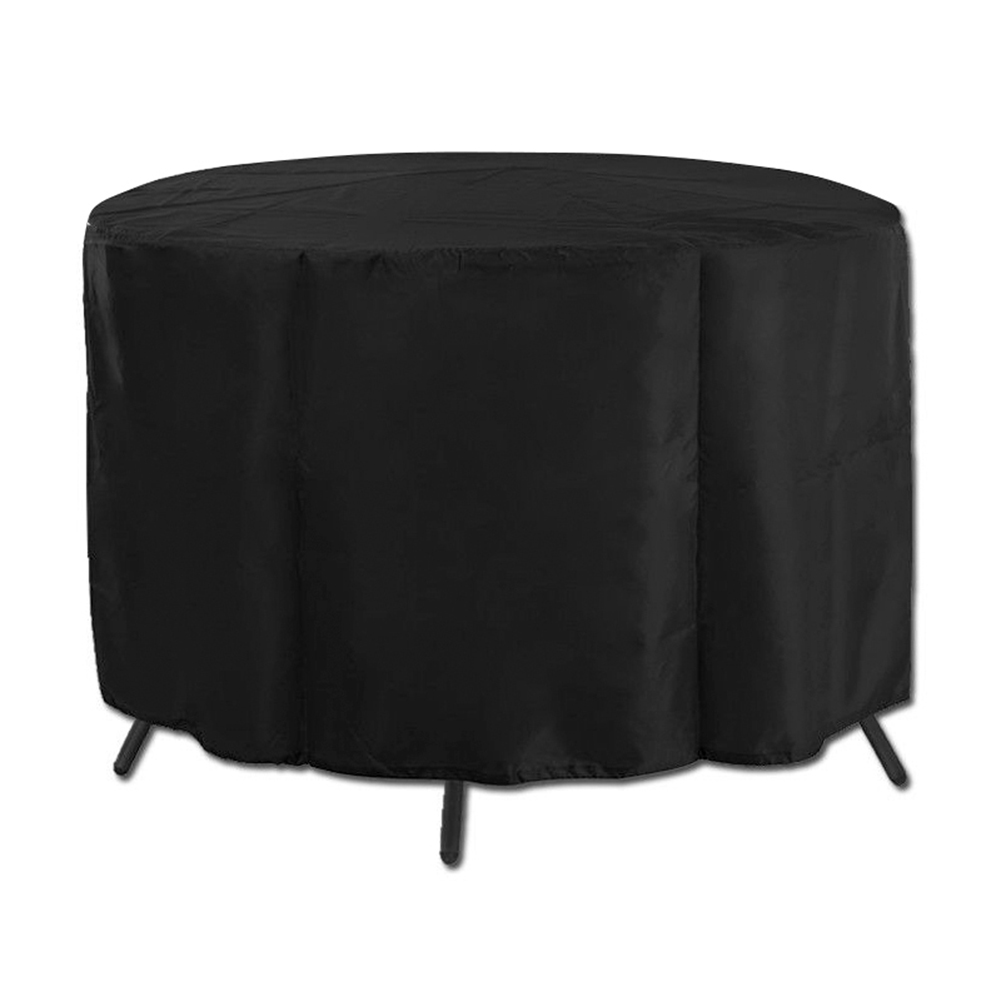 Black Waterproof Outdoor Garden Patio Furniture Table Round Cover Shelter Table Anti-Dust Protect Bag Textiles P7Ding