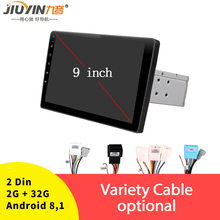 JIUYIN Car Multimedia Player 9'' 2G+32G for Android 8.1 Car Stereo 2DIN bluetooth WIFI GPS Nav Quad Core Radio Video MP5 Player
