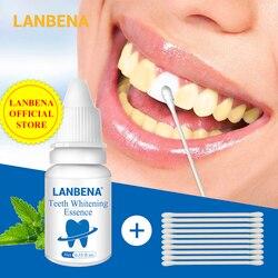 Lanbena dentes branqueamento essência em pó higiene oral soro de limpeza remove manchas de placa dentes branqueamento dental ferramentas dentífrico