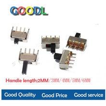 20 pces ss12d00 interruptor de corrente mini interruptor de corrente 3pin 1p2t 2 posição de alta qualidade interruptor de alte