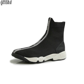 QZYERAI size 34-42 New style brand knitting knitting women ankle boots socks boots European fashion autumn and winter style
