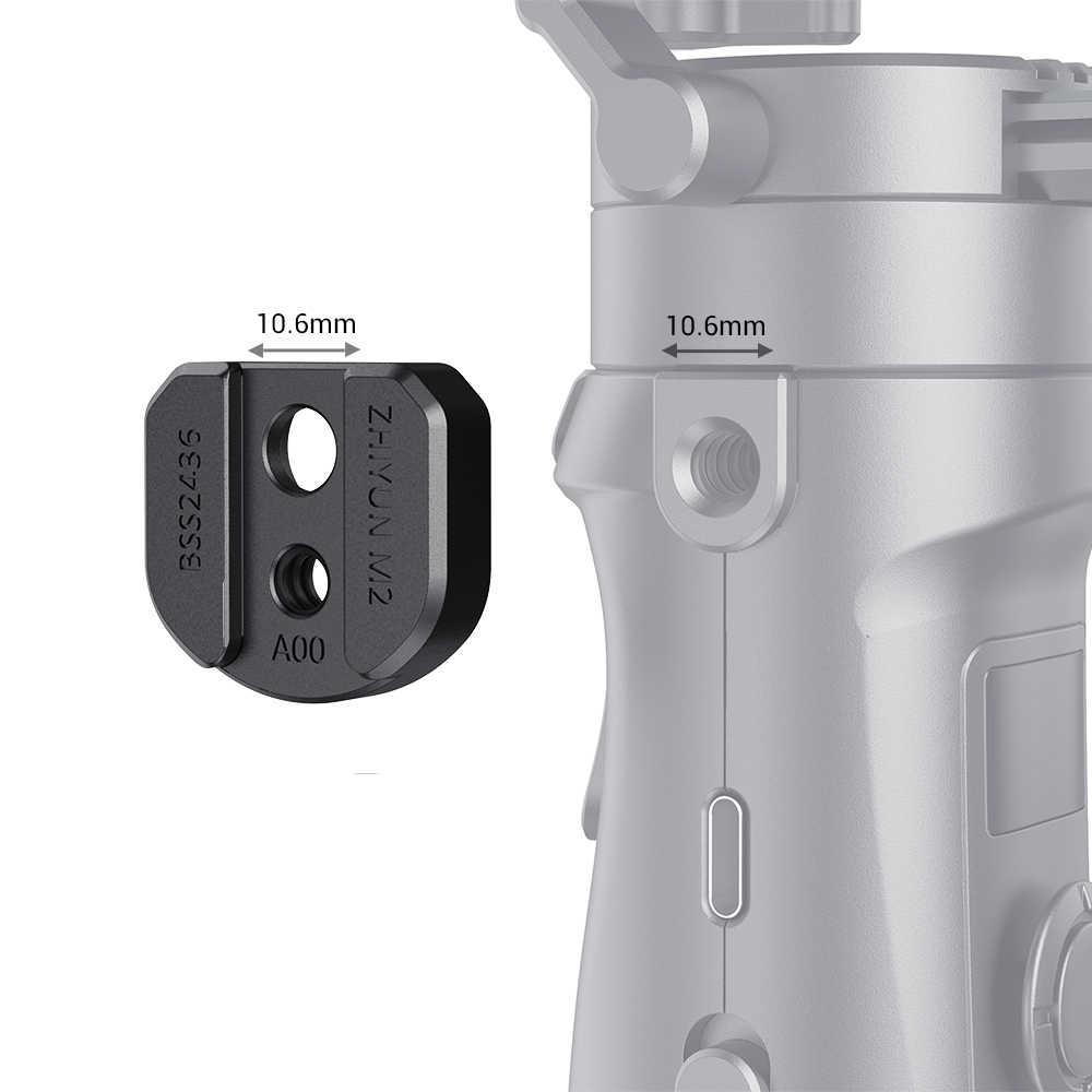 Pequeña placa de montaje de accesorios para zhiyun-tech CRANE-M2 Mini Placa de liberación rápida con agujeros de roscado de 1/4-2436