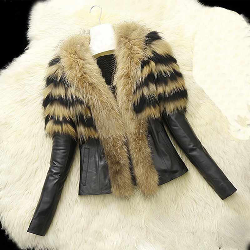 2018 женские Зимние Куртки из искусственной кожи Модная мотоциклетная байкерская куртка теплая куртка с длинным рукавом и меховым воротником Верхняя одежда