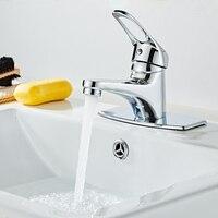 Grifos de lavabo de cascada para baño, mezclador para lavabo agua del fregadero, grifos montados en cubierta de baño, venta al por mayor y al por menor