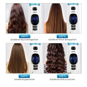 Image 5 - Brosse professionnelle en céramique pour lisser les cheveux, peigne à vapeur, brosse électrique pour lisser les cheveux, peigne à vapeur