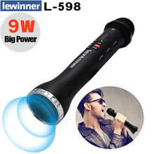 Lewinner L 698 Wireless Karaoke Microphone Bluetooth Speaker 2 in 1 Handheld Sing & Recording Portable KTV Player for iOS/Androi