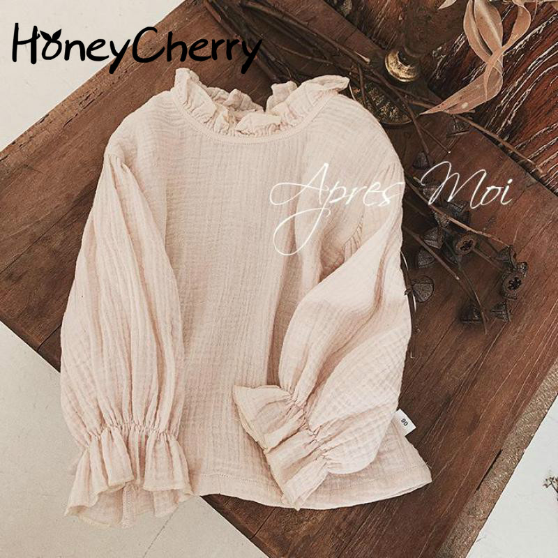 Girls' Shirts In Spring And Autumn 2020 New Children's Korean Style Cotton Shirt Simple And Versatile Top Baby girl Clothes