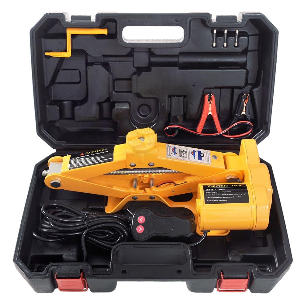 ZS3 Ton 42cm Jack Vehicle Equipment 12V Vehicle Jack Electrical Jack Set Wrench