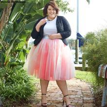 חורף טוטו בנות נסיכת פלאפי קפלים בתוספת גודל ורוד נשים נהיגה לראשונה חצאית Femme Faldas Rokken מותאם אישית טול חצאיות