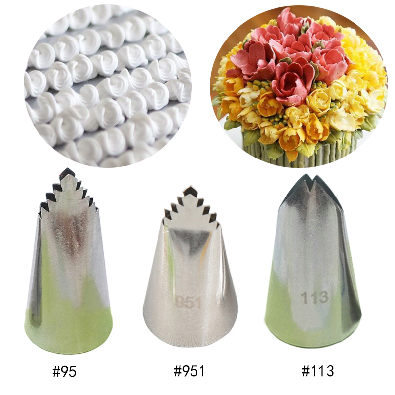 3pcs Leaves Nozzles Stainless Steel Icing Piping Nozzles Pastry Tips Cream Nozzles For Decorating Cakes Cupake Writing Tube