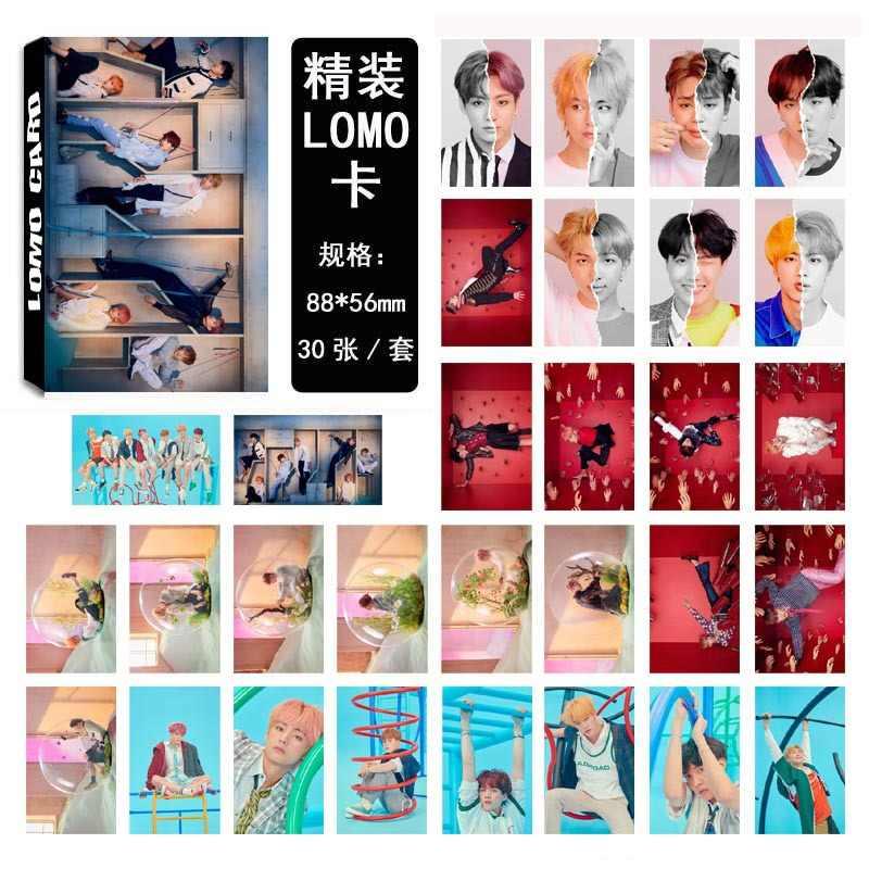 30 יח'\סט kpop bangtan בני photocard אהבה עצמך תשובה אלבום גבוהה באיכות HD תמונה כרטיס bangtan בני kpop מכתבים סט