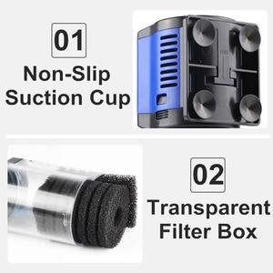 Image 3 - Filtro de aquário 220v sunsun, filtro de aquário interno 3 em 1, esponja submersível silencioso, bomba para tanque de peixes, fabricante de oxigênio bomba de água