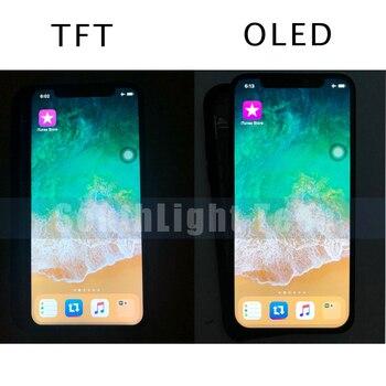 Pantalla LCD Original TFT de grado AAA + + + OLED para iPhone X XS XR OLED TFT Original LCD pantalla táctil digitalizador con 3D