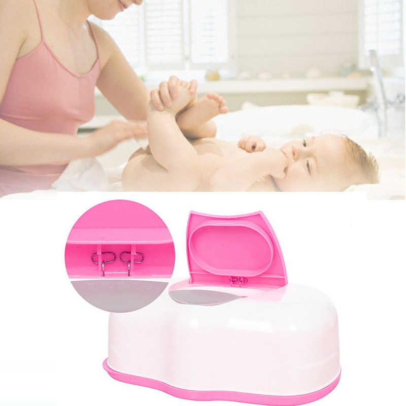 Organizer Home Car Press Automatic Baby Wipes Wet Tissue Box Case Holder Organizer Kitchen Storage Supplies  Holder