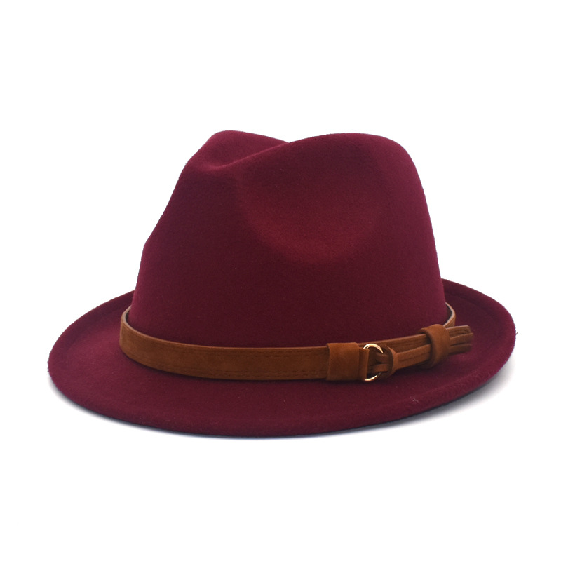 Woolen Top Hat Men And Women British Hats Imitation Cashmere Classic Fashion Harajuku Small Side Big Side Simple Jazz Cap