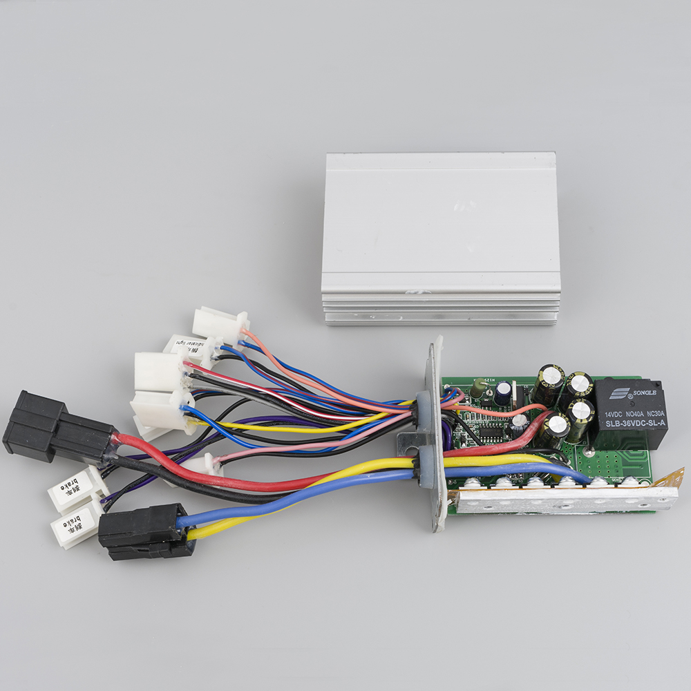 Electric Bike Brush Controller 24V/36V/48V 350W/500W/800W/1000W Dual Controller E-bike Scooter Tricycle DC Controller