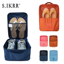 S.IKRR 3 Layers Portable Waterproof Clothes Shoe Storage Bag Nylon Travel Bag Zipper Packing Cubes Weekend Luggage Organizer Bag