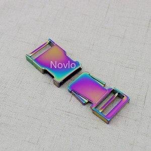 Image 3 - 5 10 30 peças 2.5 centímetros 1 polegada Íris Coleira Deslizante Fivelas, personalizado fivelas de liberação ajustador cinta