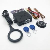 Car Alarm Car Engine Push Start Button RFID Lock Ignition Starter Keyless Entry Start Stop Anti theft System NQ ST9002 Keyless Start System     -