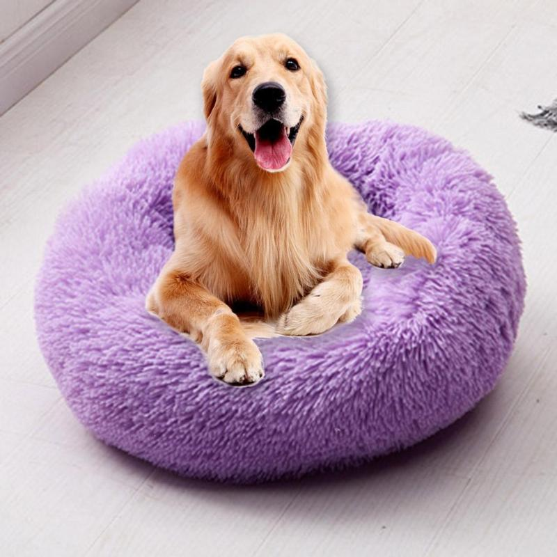 Super Soft Dog Bed Long Plush Round Small Beds Portable Comfortable And Warm Sleeping Bag Soft Puppy Kennel House
