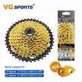 Mountainbike MTB Fiets Cassette 10 11 Speed Velocidade Onderdelen Gold Vrijloop Chain Set Tandwiel 11-42T 11 -46T 11-50T 11-52T
